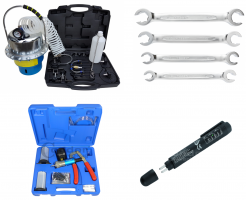 Stabdžių sistemos nuorinimo ir remonto įrankiai