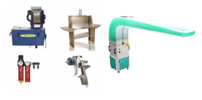 Pagalbinė dažymo įranga ir įrankiai purkštuvas džiovintuvas stalas